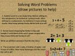solving word problems draw pictures to help