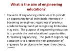 what is the aim of engineering education