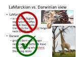 lamarckian vs darwinian view