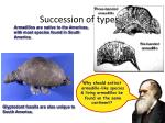 succession of types