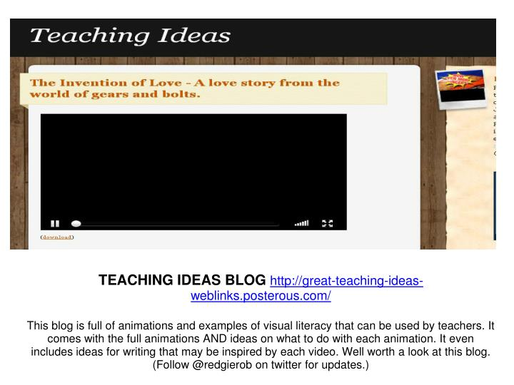 TEACHING IDEAS BLOG
