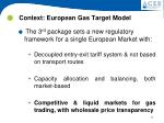 context european gas target model