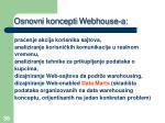 osnovn i koncepti webhouse a