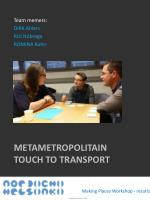 metametropolitain touch to transport