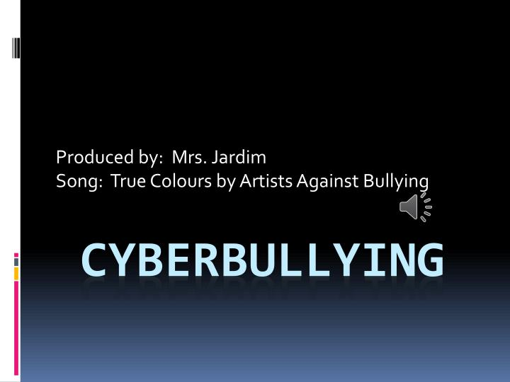 produced by mrs jardim song true colours by artists against bullying n.