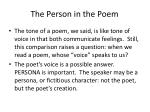 the person in the poem