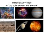 historic exploration of the solar system and beyond
