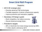 smart grid r d program