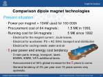 comparison dipole magnet technologies