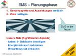ems planungsphase