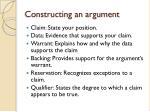 constructing an argument
