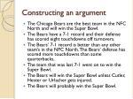 constructing an argument1