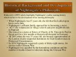 historical background and development of nightingale s philosophy