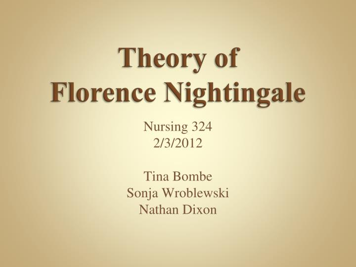 theory offlorence nightingale