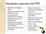 resultados esperados del tpm