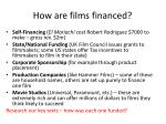 how are films financed