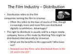 the film industry distribution