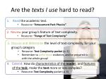 are the texts i use hard to read