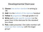 developmental staircase