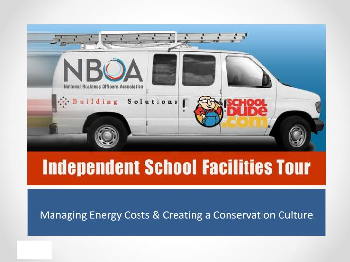 managing energy costs creating a conservation culture n.