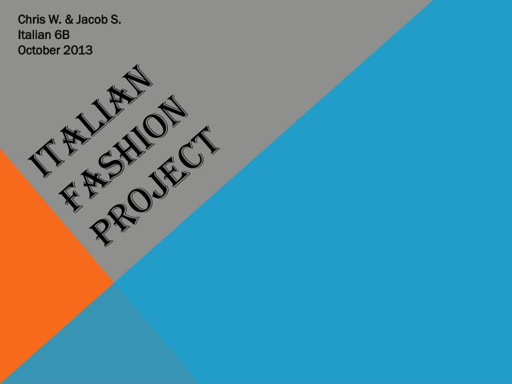 italian fashion project n.