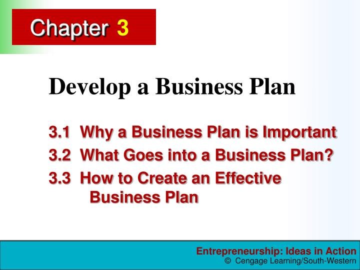 develop a business plan n.