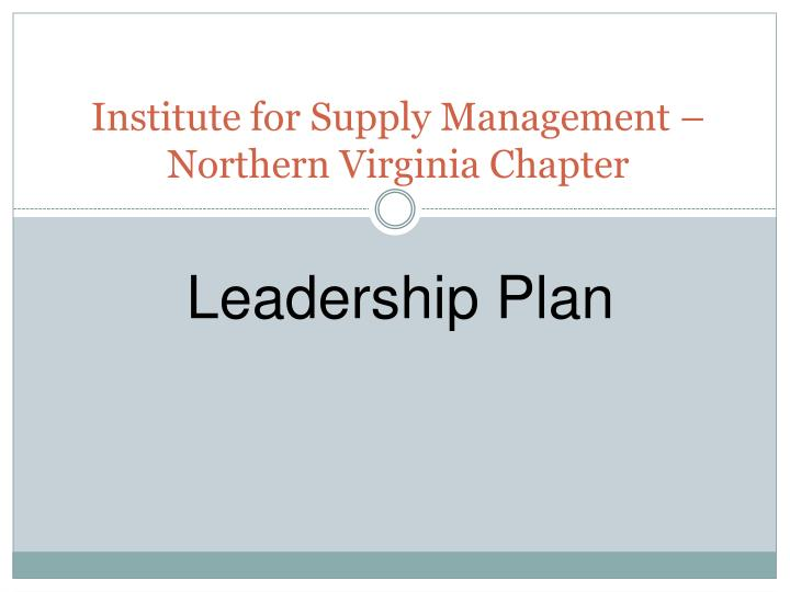 Institute for supply management northern virginia chapter