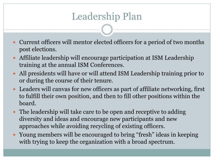 Leadership plan1