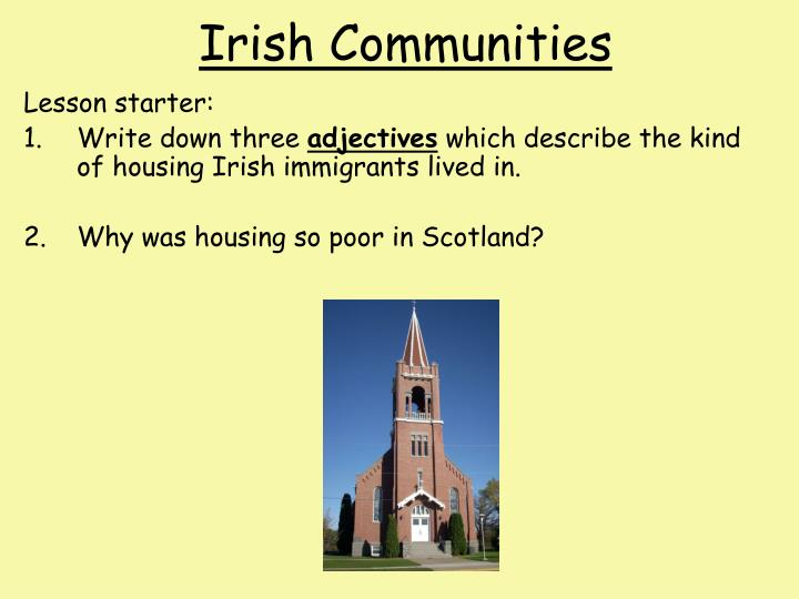 irish communities n.