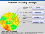dust storm forecasting challenges