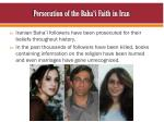 persecution of the baha i faith in iran
