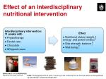 effect of an interdisciplinary nutritional intervention