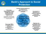 bank s approach to social p rotection
