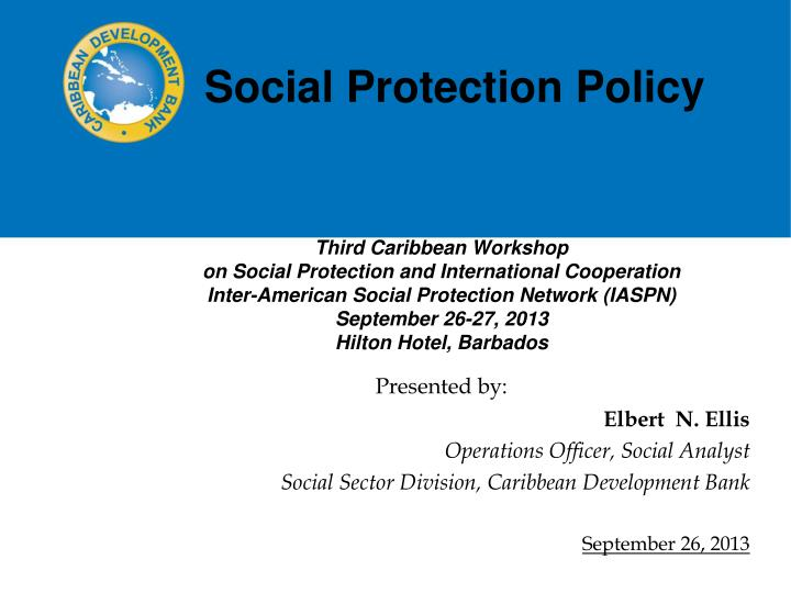 social protection policy n.