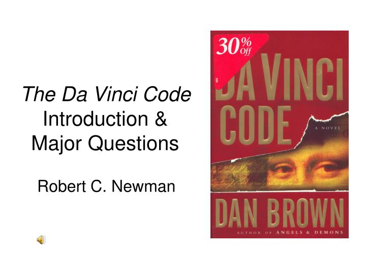 the da vinci code introduction major questions n.