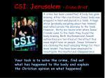 csi jerusalem crime brief