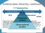evidence base hierarchy continuum