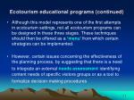 ecotourism educational programs continued4
