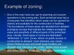 example of zoning