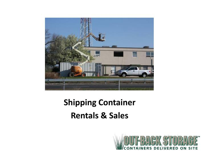 shipping container rentals sales n.