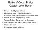 battle of cedar bridge captain john bacon
