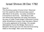 israel shreve 28 dec 1782