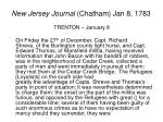 new jersey journal chatham jan 8 1783