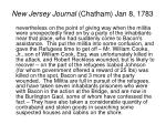 new jersey journal chatham jan 8 17831