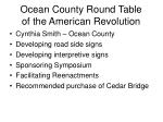 ocean county round table of the american revolution