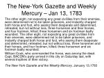 the new york gazette and weekly mercury jan 13 17831