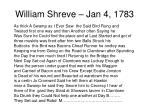 william shreve jan 4 17831