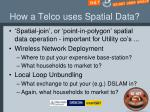 how a telco uses spatial data