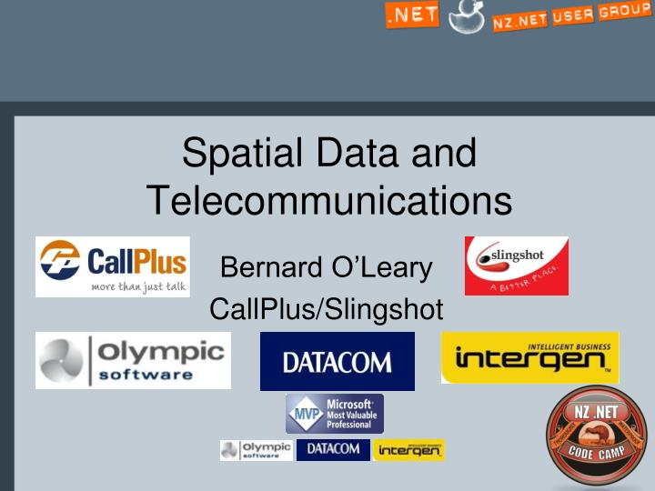 spatial data and telecommunications n.