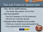 tips and tricks for spatial data